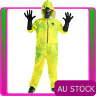 Kids Yellow Hazmat Suit Jumpsuit Child Halloween Boys Breaking Bad Costume