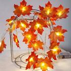 10/20/40 LED Maple Leaves Fall Garland String Light Halloween Decor H0E6