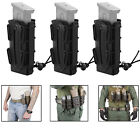 3pcs Tactical Scorpion Soft Shell 9mm Pistol Rifle Magazine Pouch Molle Carrier