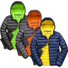 Men Super Soft Padded Jacket Showerproof Windproof Compact Slim Fit Hooded Coat
