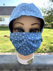 New Scrub/hat & Face Mask With Buttons/filter Pocket Matching Set Pick Your Own