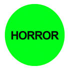 24 Pack Horror VHS  DVD Stickers - .75 inch