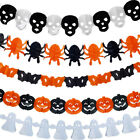 Halloween Spiders Pumpkin Scary Witch Garland Paper House Party Decoration Prop