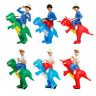 Ride On Dinosaur Costume Inflatable Blow Up Suit Men Kids Fancy Dress Party XMAS