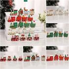 Wooden Christmas Train Toy Set Kids Presents Home Xmas Mini Decoration