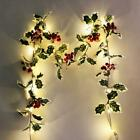 Halloween LED Light Autumn Fall Maple Leaves Garland Hanging Plant Home Decor US