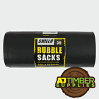 EXTRA LARGE BLACK HEAVY DUTY GARDEN REFUSE RUBBLE WASTE SACKS BAGS