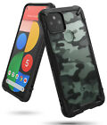 For Google Pixel 5 Case Ringke [FUSION-X] Clear PC Back TPU Bumper Rugged Cover