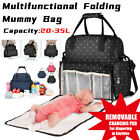 Multifunctional Baby Diaper Backpack Bag Mummy Nappy Folding Baby Bed