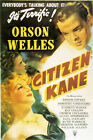 Citizen Kane Orson Welles Vintage Movie Poster