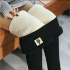 Winter Warm Thermal Cashmere Wool Leggings Pants High Waist Thick Pants