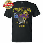 Внешний вид - Los Angeles Dodgers Lakers 2020 World Champions Trophies T-Shirt - Black