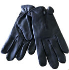 Men's GENUINE LAMBSKIN Leather winter driving MOTORCYCLE glove with Zipper