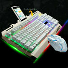 G700 Gaming Keyboard and Mouse Combo RGB Backlit Quiet Ergonomic Water-Resistant