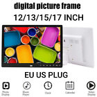 12/13/15/17inch HD Digital Photo Frame Remote Control Smart Picture Music Player