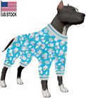 LovinPet Winter Night Warm Big Dog Pjs/Happy Hippo Tossed Hippos Blue Prints