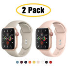 2 PACK Silicone Sport Band iWatch Strap for Apple Watch 6 5 4 3 SE 38/42/40/44mm