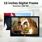 15 inch HD Digital Photo Frame Touch Picture Electronic Album Alarm Clock