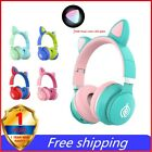 LED Cat Ear Headphones Noise Cancelling Headphone Bluetooth 5.0 Headset With Mic