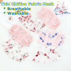 Summer Breathable Chiffon Fabric Face Mask Handmade Washable Cloths Mouth Cover