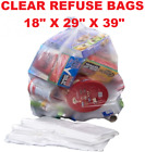 Large Strong Clear Plastic Polythene Bin Liners Waste Bags Sacks18