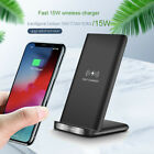 US 15W Qi Wireless Charger Charging Dock Pad Stand For iPhone 12 12Pro Pro 11 XS