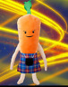 More images of  KEVIN the CARROT giant 1 metre+ in his KILT PLUSH 🥕 Limited edition Brand New