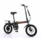 """Adult Bicycle 16"""" INCH Foldable Alloy Wheel With Dual Disc Brakes 6 Speed Gear"""
