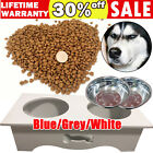Premium Wood Double Pet Bowls w/ Raised Stand Dog Cat Food Water Feeding Station