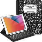 """360 Rotating Wireless Bluetooth Keyboard Case Cover For iPad 8th Gen 10.2"""" 2020"""