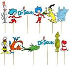 DR SUESS CAT HAT GRINCH IN CUPCAKE TOPPERS Party BALLOON SUPPLIES CAKE TOPPER