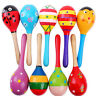 More images of 2 / 5 / 10pcs Cute Wooden Maraca Rattles Baby Rattles Children Shaker Sounds Toy