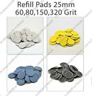 New Refill pads for pedicure 25 mm 60, 80, 150, 320 grit