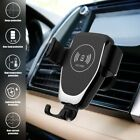 10W Qi Wireless Charger 2in1 Car Gravity Bracket For iPhone 12 XS XR Samsung S20