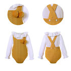 Toddler Baby Girl Yellow Sweater Romper Formal Party Outfit Christmas Clothes US