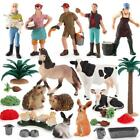 Simulation Zoo Animals Model Chicken Cow Poultry PVC Figures Sand Table Toys