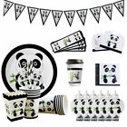 Lovely Panda Theme Tableware Paper Plate Set Children Birthday Party Decoration