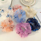 Butterfly Scrunchies Elastic Mesh Chiffon Hairband Ponytail Holder Accessories