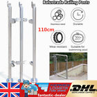 110cm Stainless Steel Balustrade Posts Glass Clamps with Top Seat for 8~12mm New