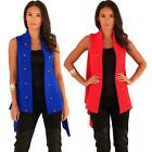 Ladies Waistcoat Knitting Pattern Women Soft Acrylic Yarn Sleeveless Cardigans