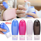 4pack 89ml Silicone Empty Travel Bottles Leak Proof Cosmetics Shampoo Container