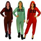 Ladies All in One Jumpsuit Ex Branded with Hood Casual Long Sleeve Top