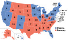 2012 US PRESIDENT ELECTION ELECTORAL COLLEGE MAP POSTER PICTURE PHOTO PRINT 6476