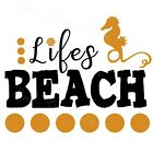 Life Is Better In Flip Flops - Ocean Beach Sea Sun - Vinyl Decal Free Ship 1799F