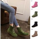 Womens Lady Leather  Snow Ankle Boots Winter Lace Up High Top Flat Shoe