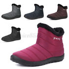 Gracosy Womens Winter Waterproof Snow Ankle Boots Ladies Fur Flats Lined Shoe