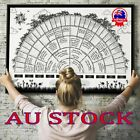 Family Tree Chart Genealogy Poster Home Wall Painting Decor Tree Family Au #t