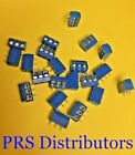 KF301-3P 5.08mm Pitch 3 Pins Plug-in Screw Terminal Block Connector Blue