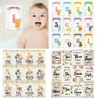 12 Sheet Baby Monthly Milestone Cards Birth to 12 Months Photo Prop Moment Cards