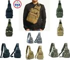 Men Molle Pouch Tactical Chest Shoulder Sling Bag Fanny Pack Cross Body Backpack